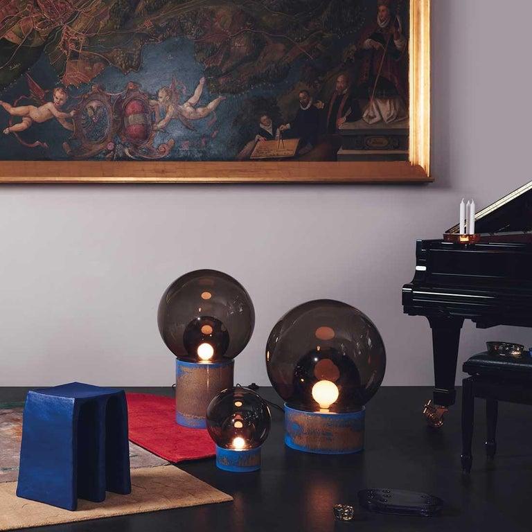 Boule, Table Light, Medium, Transparent, European, Black, Minimal, 21st Century For Sale 3