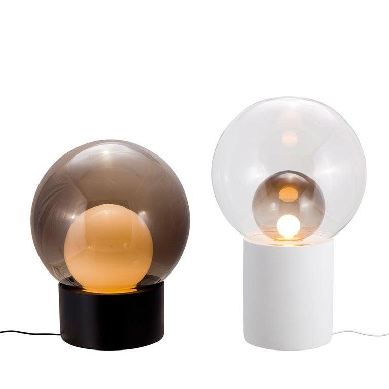 Boule, Table Light, Medium, Transparent, European, Black, Minimal, 21st Century In New Condition For Sale In Weil am Rhein, DE
