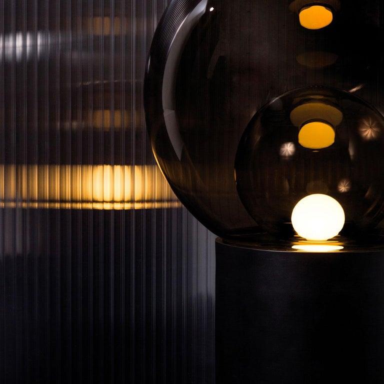 Boule, Table Light, Medium, Transparent, European, Black, Minimal, 21st Century For Sale 1