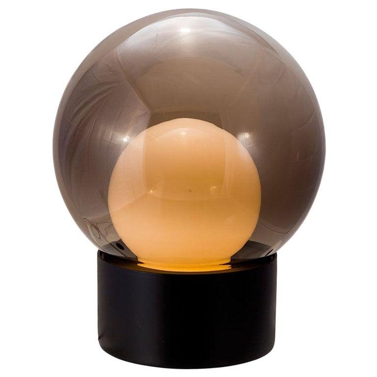 Boule, Table Light, Medium, Transparent, European, Black, Minimal, 21st Century For Sale
