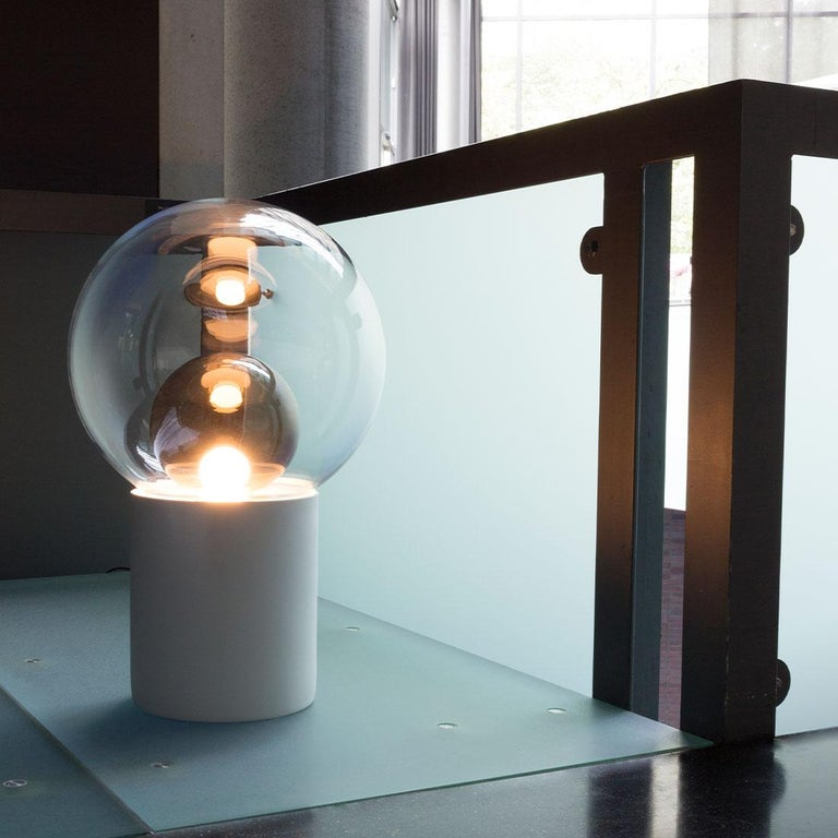 Boule, Table Light, Small, Transparent, European, Black, Minimal, 21st Century For Sale 2