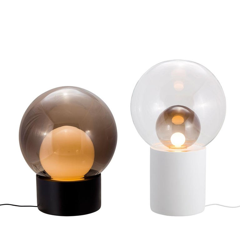 Boule, Table Light, Small, Transparent, European, Black, Minimal, 21st Century In New Condition For Sale In Weil am Rhein, DE