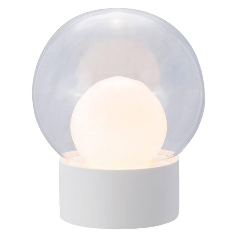 Boule, Table Light, Small, Transparent, European, Black, Minimal, 21st Century For Sale