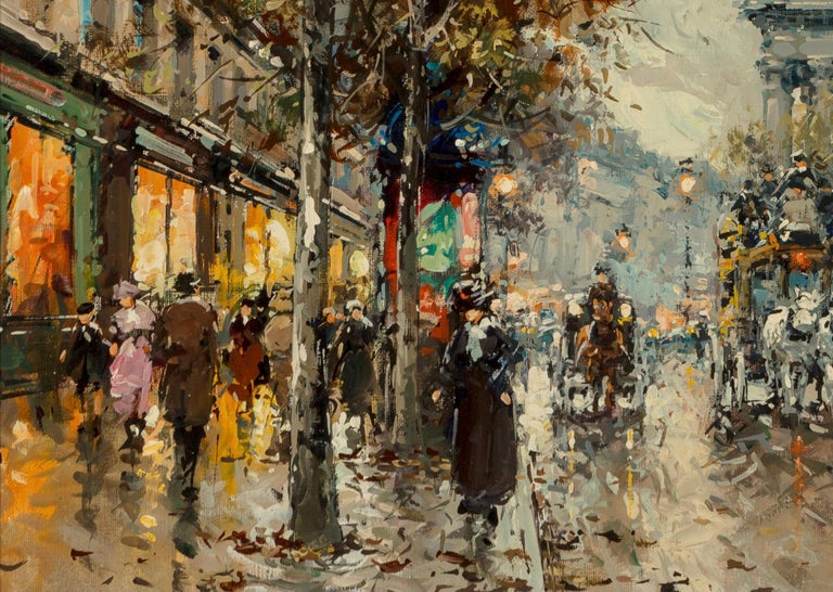 "Beaux Arts Antoine Blanchard ""Boulevard De La Madeleine"" 18x21 For Sale"