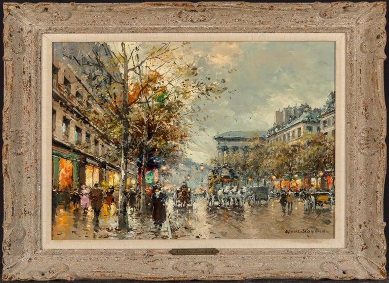 "Mid-20th Century Antoine Blanchard ""Boulevard De La Madeleine"" 18x21 For Sale"