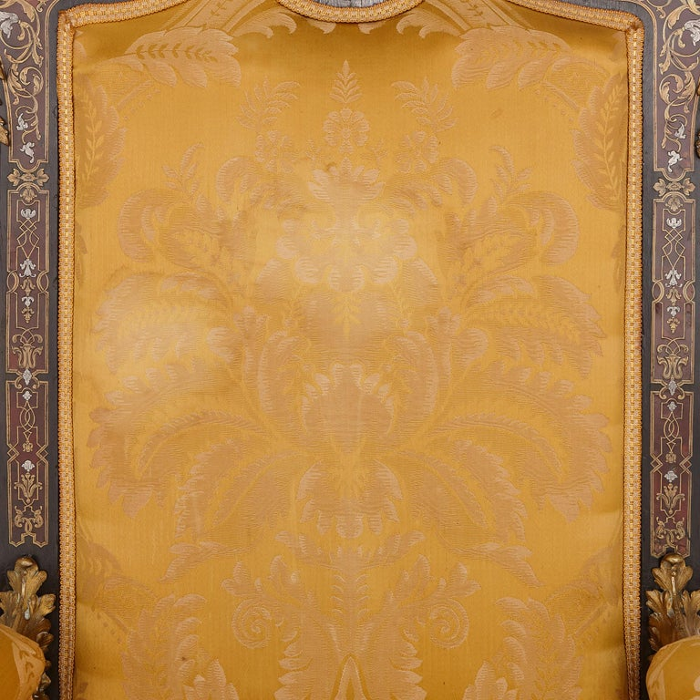 Boulle Inlaid Armchair with Gilt Bronze Mounts In Good Condition For Sale In London, GB