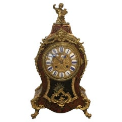 Boulle Marquetry, Louis XIV Style Ormolu Mounted Clock, 19th Century