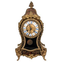 Boulle Napoleon III Mantel Table Clock from 1855