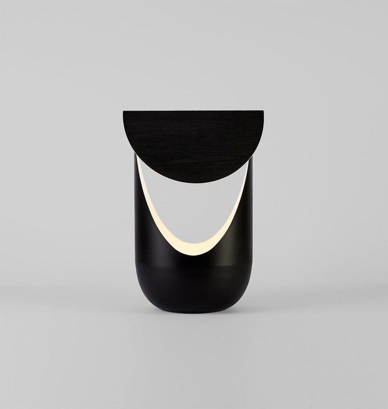 American Bounce Table Lamp in Black by Karl Zahn for Roll & Hill For Sale
