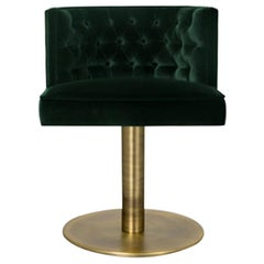 Bourbon II Dining Chair with Swivel and Velvet