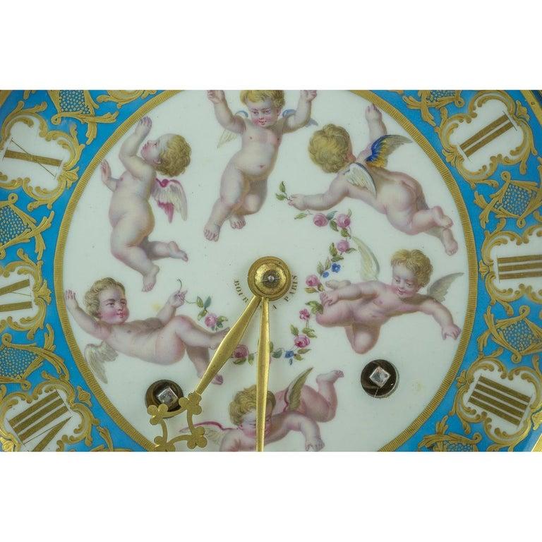 French Bourdin À Paris Figural Ormolu Mantel Clock, circa 1890 For Sale