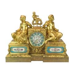 Bourdin À Paris Figural Ormolu Mantel Clock, circa 1890