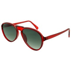 Bourgeois aviator sunglasses red, FRANCE
