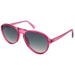 Bourgeois pink vintage sunglasses pilot, FRANCE