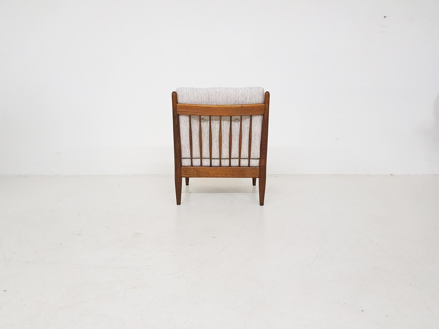 Bovenkamp & Ib Kofod Larsen Attributed Lounge Chair in Oak, Dutch Design 1960s