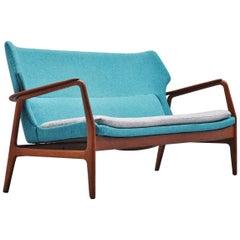 Bovenkamp Wingback Lounge Sofa Aksel Bender Madsen, 1960