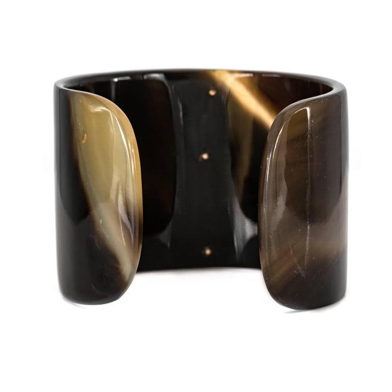 Horn Cuff with Vintage 14 Karat Diamond Bar 2
