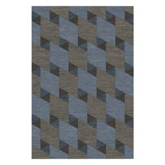 Bow Blue and Gray Rug
