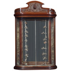 Bow Fronted Glass Pipe Display Cabinet