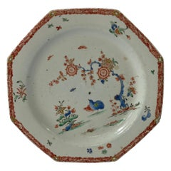 Bow Porcelain Plate, Kakiemon Two Quail Pattern, C 1755