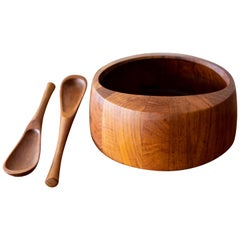 Bowl and Tongs by Jens Quistgaard for Dansk