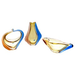 Bowl, Basket & Vase Collection of Art Glass by Hana Machovska Romana for Skol