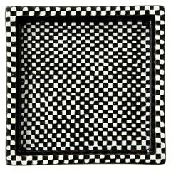 Bowl by Stig Lindberg, Scandinavian Midcentury, Black and White, Ashtray