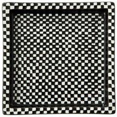 Bowl by Stig Lindberg, Scandinavian Midcentury, Black and White, circa 1950