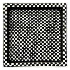 Bowl by Stig Lindberg, Scandinavian Midcentury, Black and White, Sweden, Domino