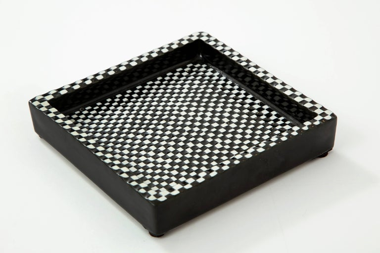 Mid-20th Century Bowl by Stig Lindberg, Scandinavian Midcentury, Black and White, circa 1950 For Sale