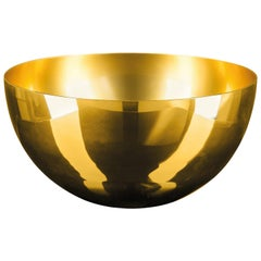 Bowl Cup, Gold Color, in Glass, Italy