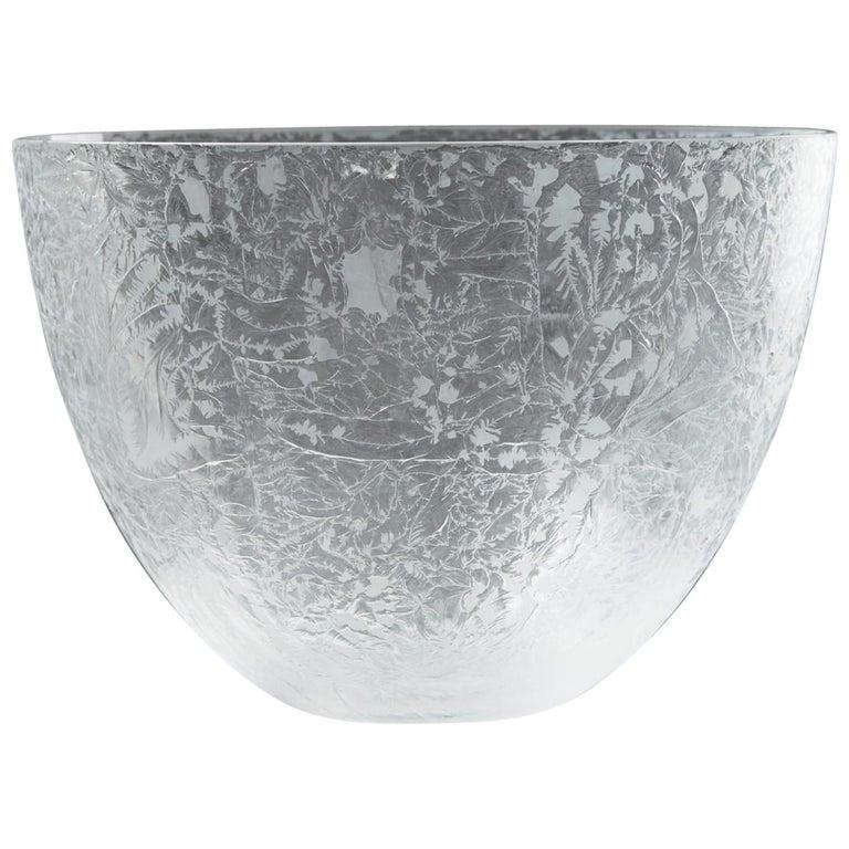 Bowl Designed by Ingegerd Råman for Orrefors, Sweden, 2000s For Sale
