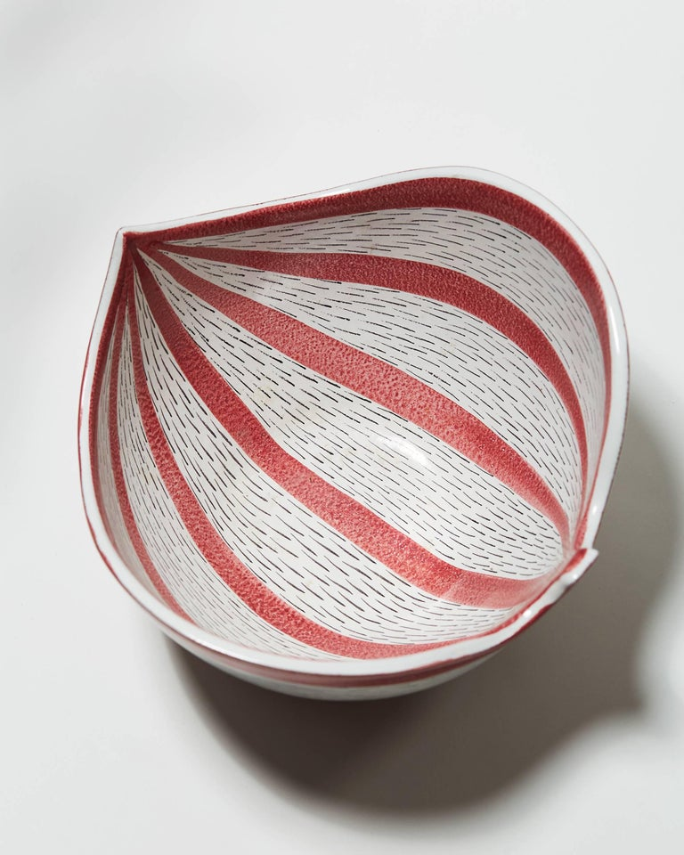 Mid-20th Century Bowl Designed by Stig Lindberg for Gustavsberg, Sweden, 1950s For Sale