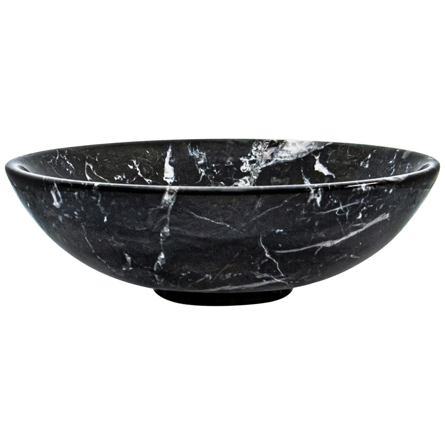 Bowl in Black Marble