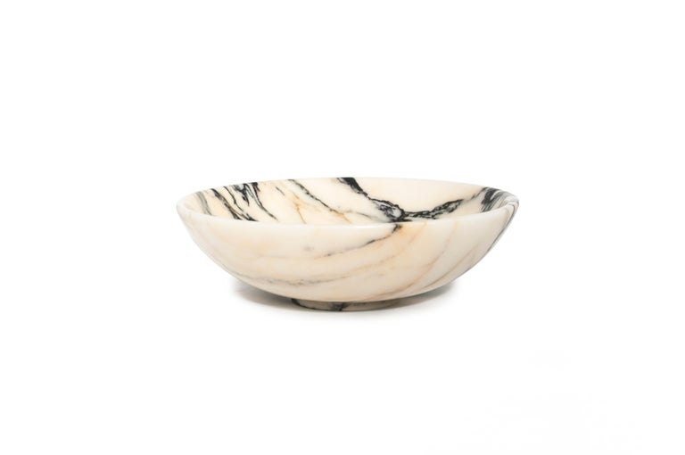 Contemporary Bowl in Paonazzo Marble diam 23,5 cm For Sale