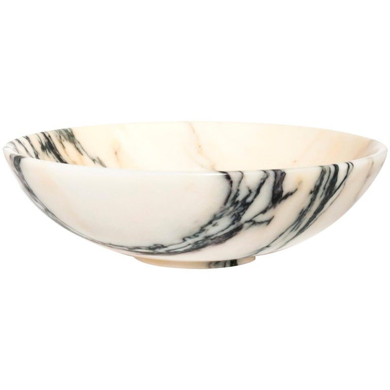 Bowl in Paonazzo Marble diam 23,5 cm For Sale