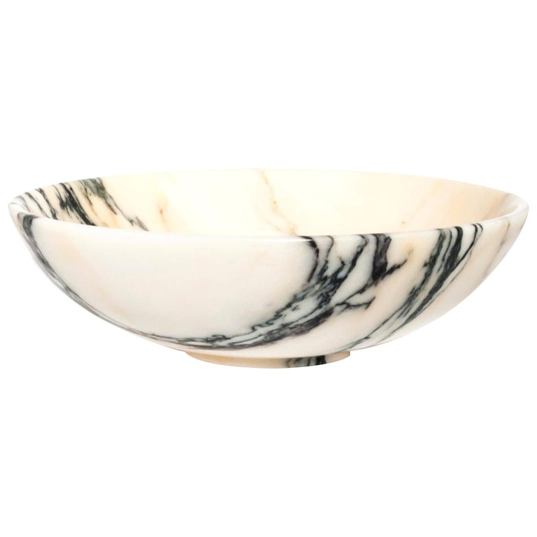 Bowl in Paonazzo Marble For Sale
