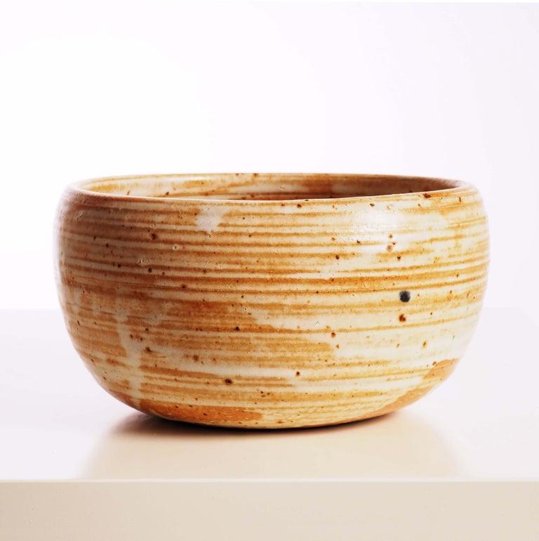 Scandinavian Modern Bowl in Stoneware by Arabia, Finland For Sale