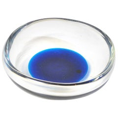 Bowl in Submerged Glass Signed Venini