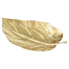 Bowl, Leaf Shape, Brass, Italy, circa 1950