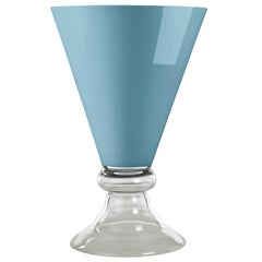 Bowl New Romantic, Purist Blue Color, 2020 Trend, in Glass, Italy