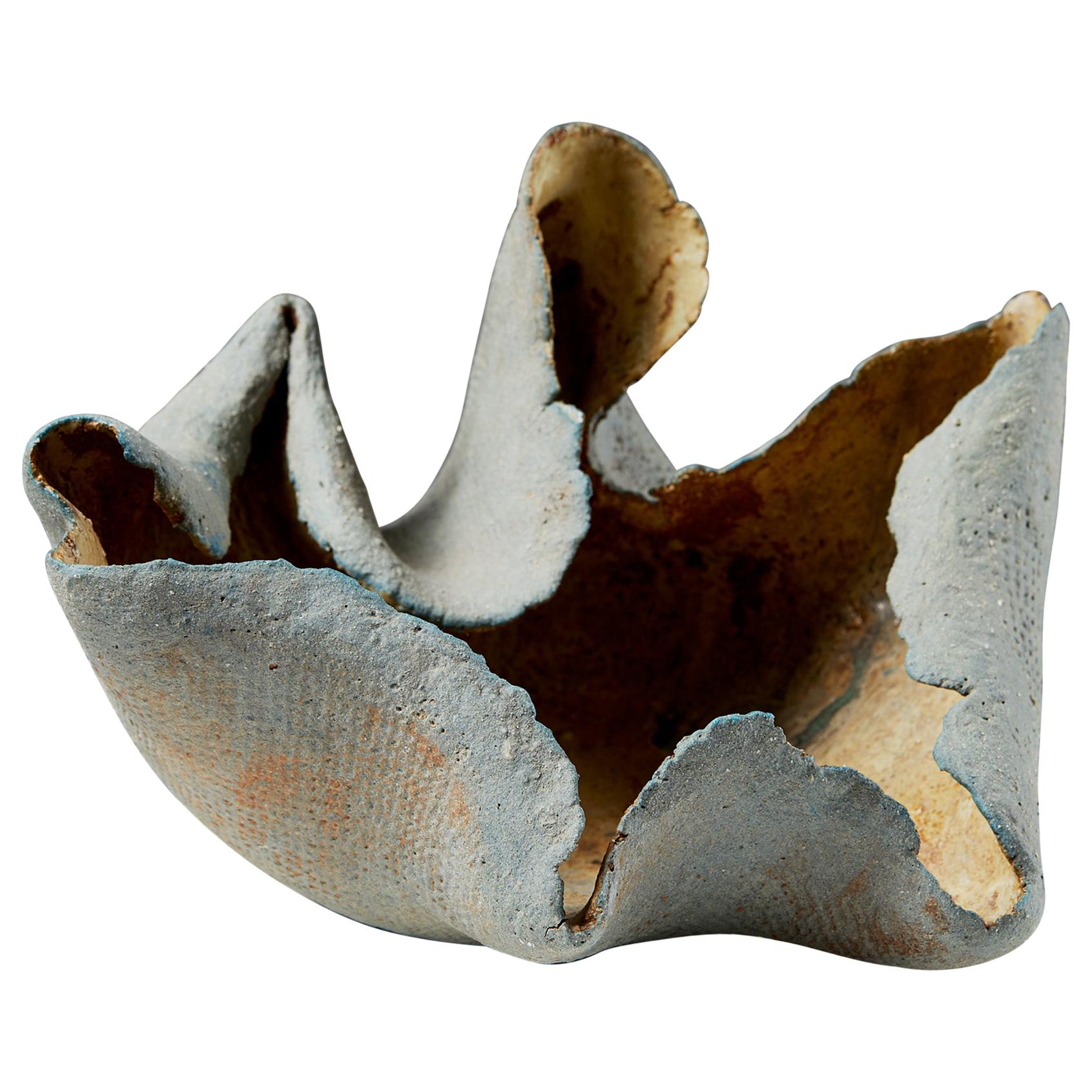 Bowl/Sculpture Designed by Tyra Lundgren, Sweden, 1950's