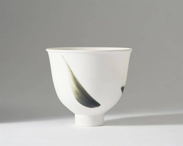 Bowl, Cintra. Designed by Wilhelm Kåge for Gustavsberg  Sweden, 1950s.  Bone China.  Measures: H 7.5 cm/ 3''.