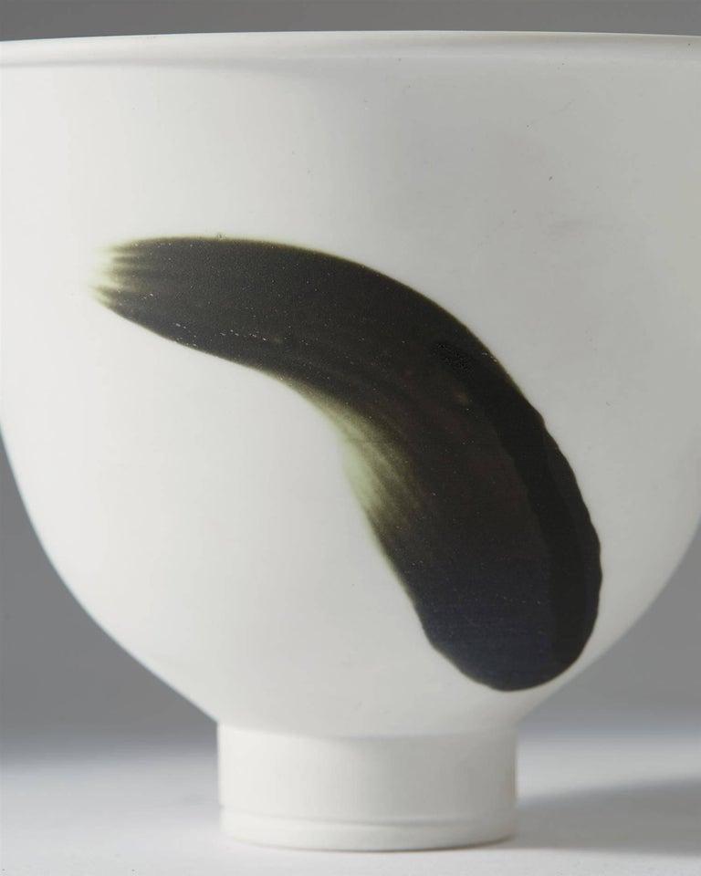 Scandinavian Modern Bowl, Cintra, Designed by Wilhelm Kåge for Gustavsberg, Sweden, 1950s For Sale