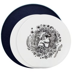 Box of 2 Dinner Porcelain Plates Without Gold Collection Rue de Paradis