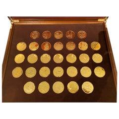 Box 24-Karat Gold-Plated 925 Silver Medal Painter Vermeer