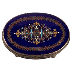Box, Box 19th Century, Napoleon III Period, Porcelain and Brass Mounting