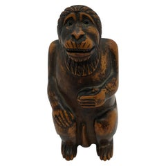 Box in the Shape of a Monkey, 19th Century
