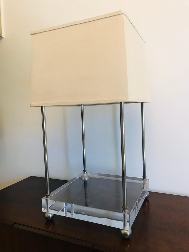 'Box-Line' Showcase Lamp, 1980s For Sale 10