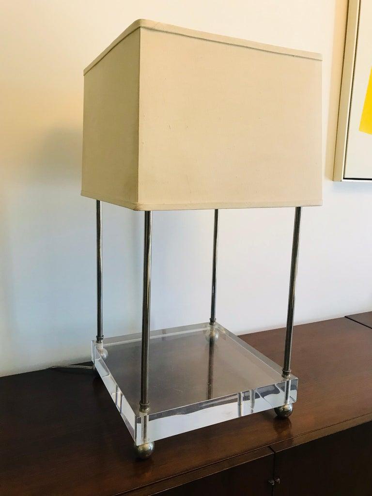 Modern 'Box-Line' Showcase Lamp, 1980s For Sale